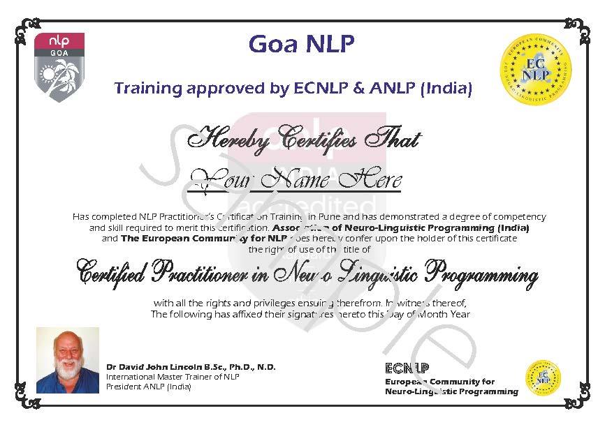 Sample Certificates Nlp India